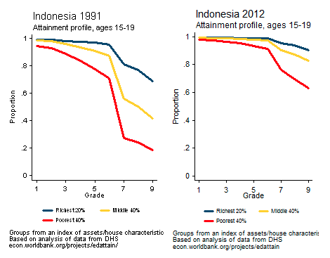 Evolution of between- vs. within-cycle dropout in Indonesia