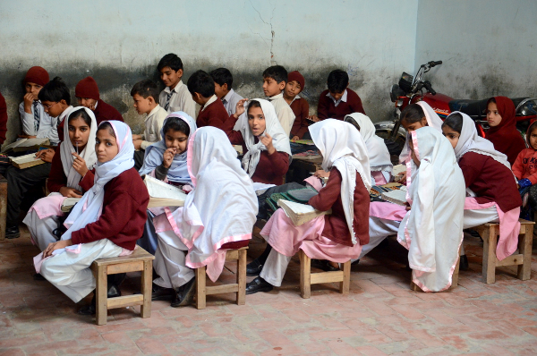 Pakistan school children