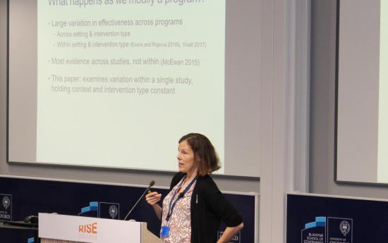 Rebecca Thornton presents at the RISE Annual Conference 2018