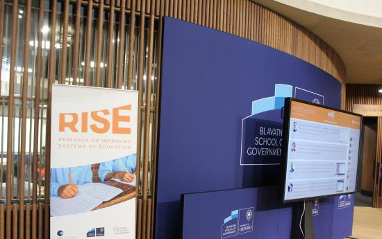 RISE and Blavatnik School of Government banners