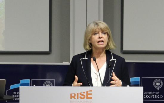 Minister of State for Africa at the Foreign and Commonwealth Office and Minister of State at the Department for International Development (DFID), Harriett Baldwin, speaks at the RISE Annual Conference.
