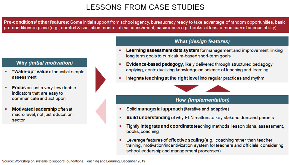 Diagram showing lessons from case studies in LMIC countries