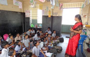classroom in India