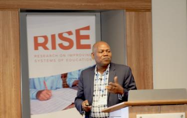 Leonard Wantchekon presenting at the RISE Annual Conference 2019