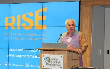 Lant Pritchett speaking at the RISE Annual Conference 2017