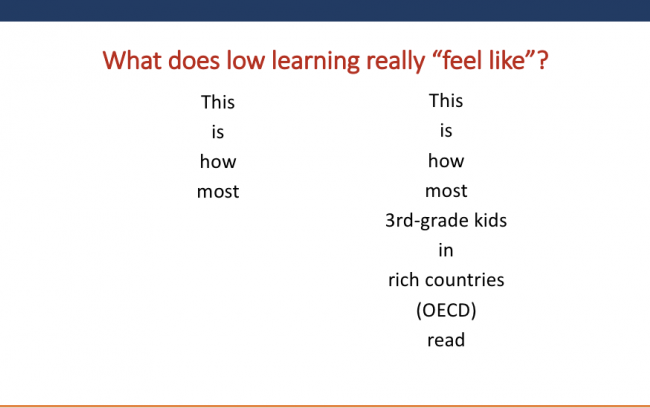 What Does Low Learning Really Feel Like?
