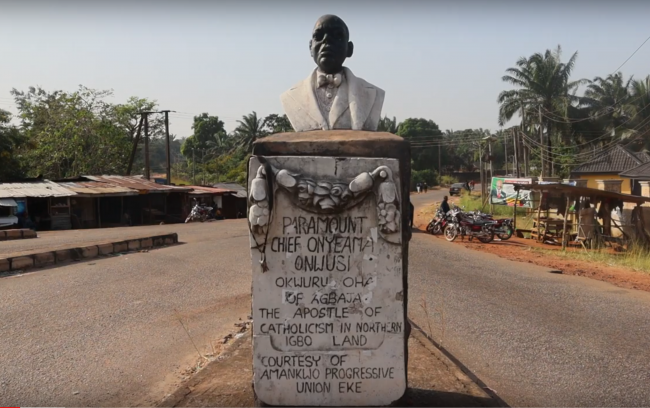 Bust of Chief Onyeama