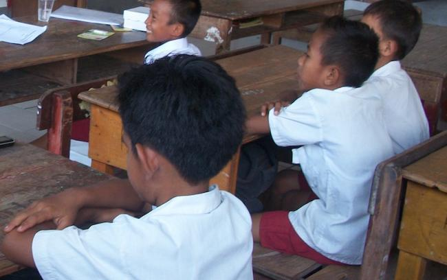 Indonesia school children in a classroom