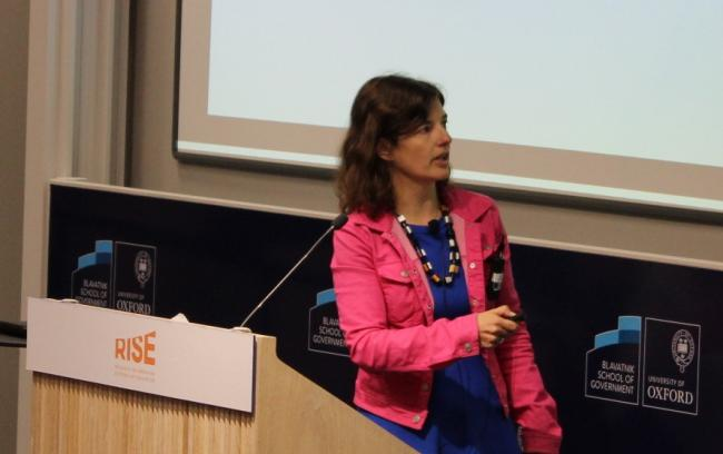 Tessa Bold (IIES/Stockholm University/CEPR/RISE) presenting at the RISE Annual Conference
