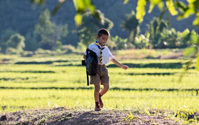 Indonesia school boy