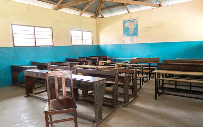 Picture of empty classroom in Africa