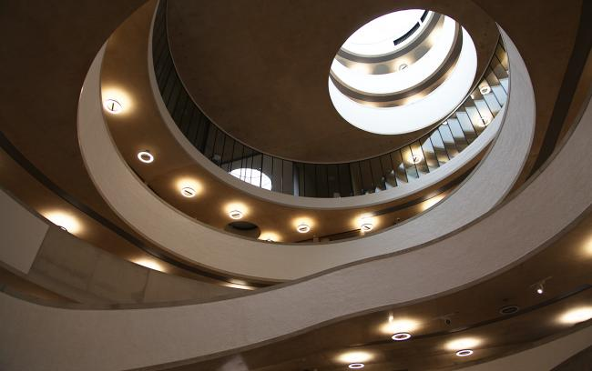 inside of Blavatnik School of Goverment building