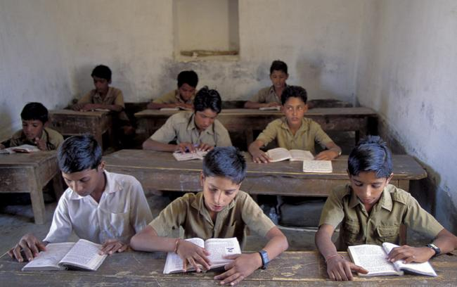 India - school children